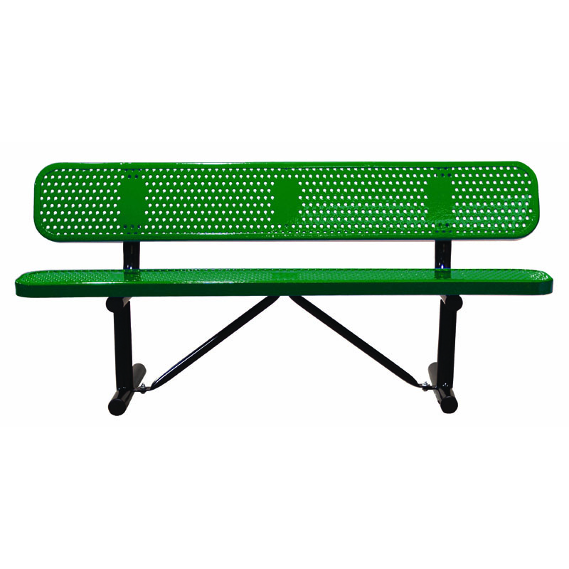 6' Perforated Bench with Back