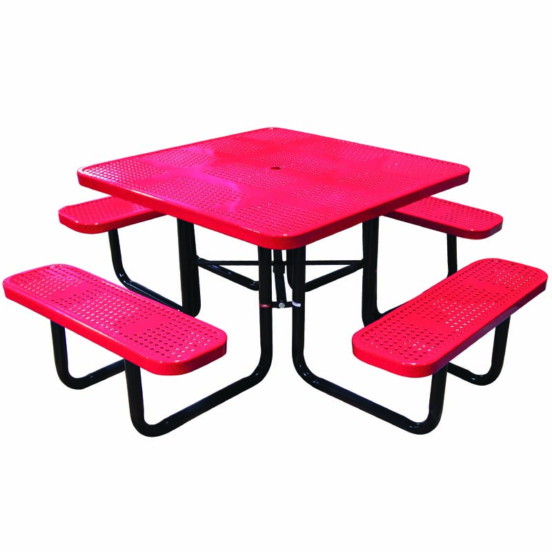 """46\"""" Perforated Square Table"""