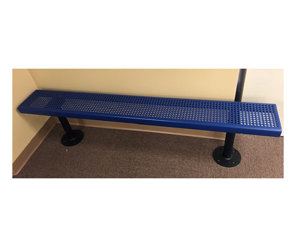 6' Bench without Back- Blue