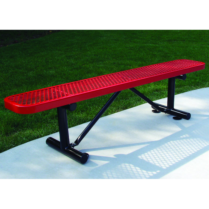 6' Expanded Metal Bench