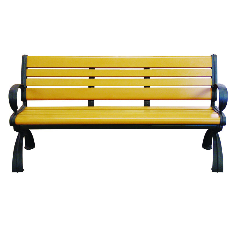 6' Recycled Plastic Bench with Back