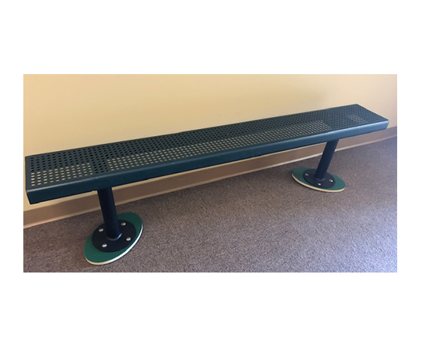 6' Bench without Back- Green
