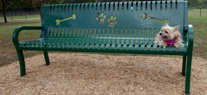 Deluxe Dog Park Bench