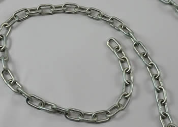"3/16"" Swing Chain per foot Trvalent Coating"