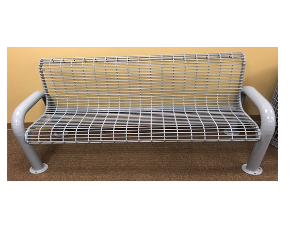 SAM-BWB06-GRY 6' Wire Bench with Back