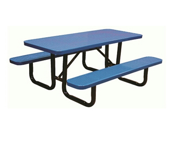 SAM-TBL04-(COLOR)   2 Blue  or 2 Green 6' Perforated picnic Table