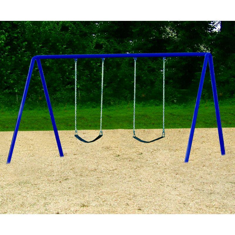 Bi-Pod Swing (Powder Coated Uprights) - One Bay