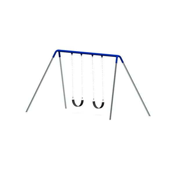 Bi-Pod Swing (Galvanized Uprights) - One Bay