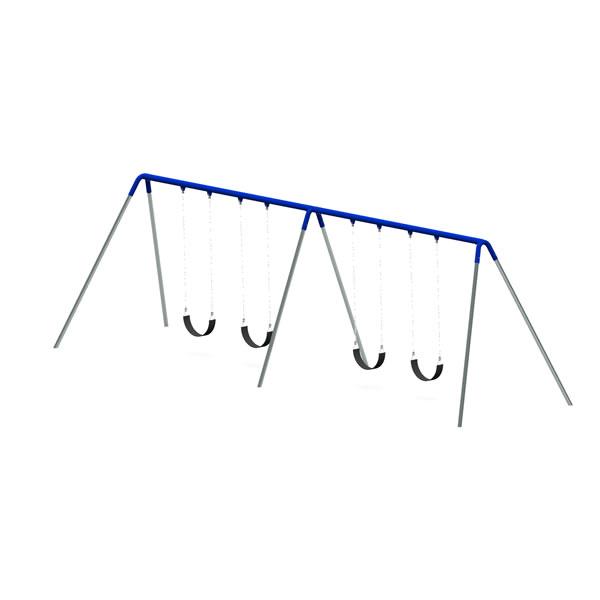 Bi-Pod Swing (Galvanized Uprights) - Two Bay