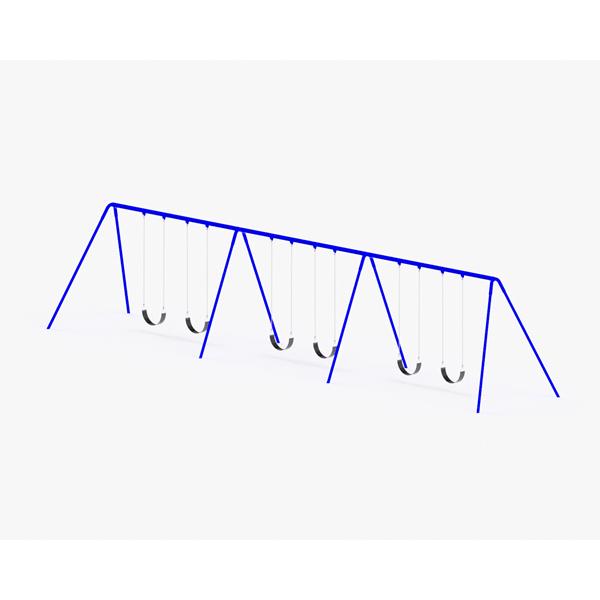 Bi-Pod Swing (Powder Coated Uprights) - Three Bay