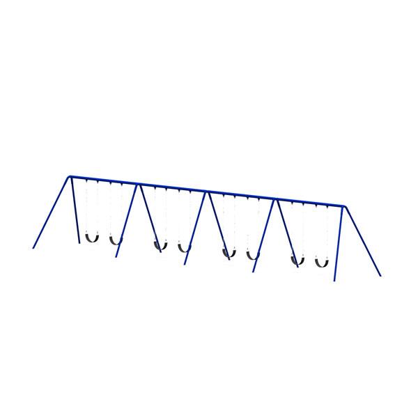Bi-Pod Swing (Powder Coated Uprights) - Four Bay