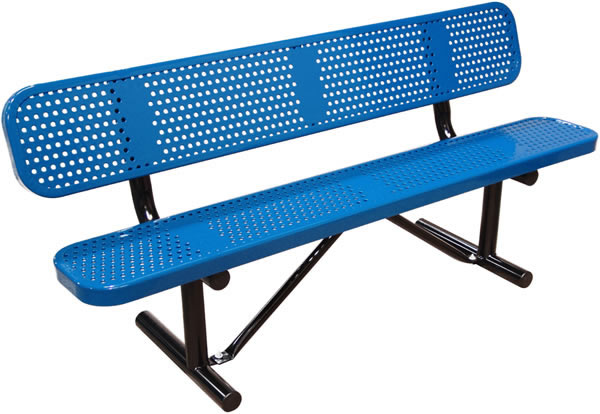 Perforated Bench with Back Surface Mount