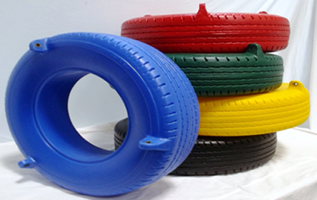 Plastic Tire Swing (Seat Only) Black Blue Green Red Yellow