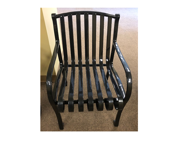 SAM-TBL11-BLK Arched Back Chair