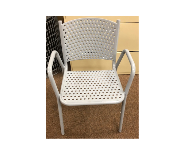 SAM-TBL12-GRY Perforated Chair with Back