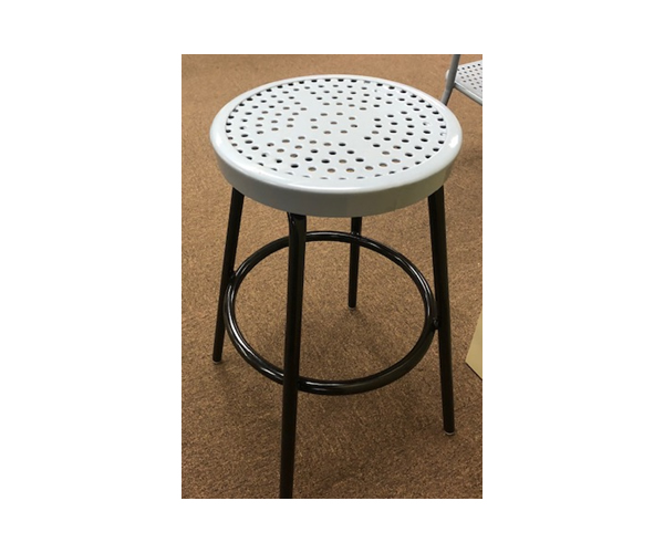 SAM-TBL14-GRY Perforated Bar Stool