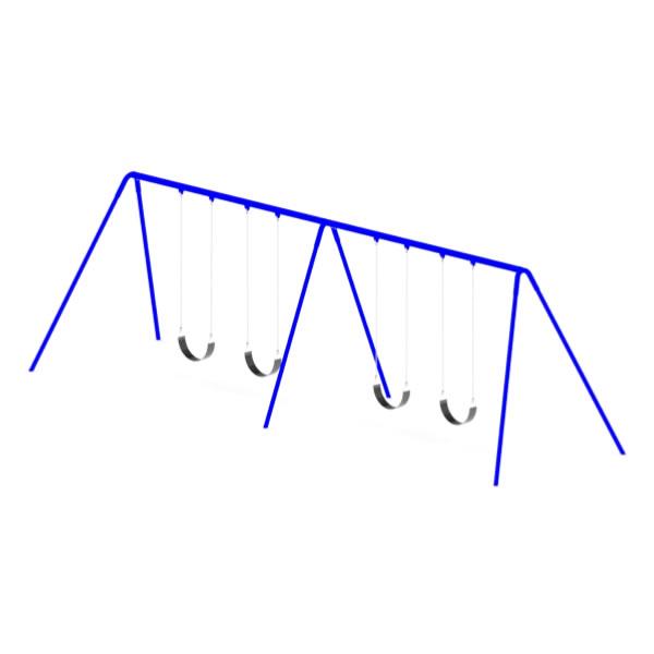 Bi-Pod Swing (Powder Coated Uprights) - Two Bay
