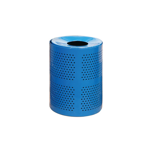 32 Gallon Perforated Trash Receptacle, Surface Mount
