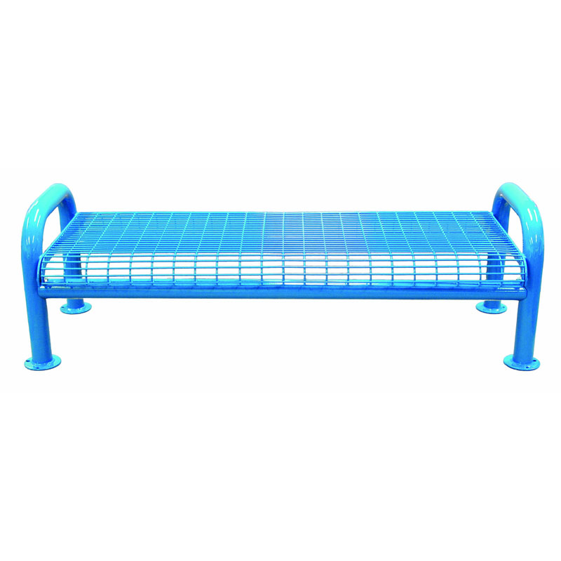 6' Wire Metal Bench, U-Leg