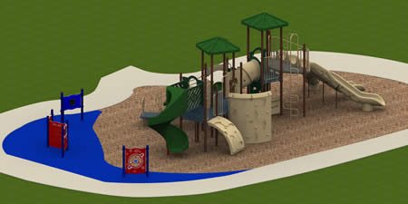 Martin Luther King Center Complete Playground Package
