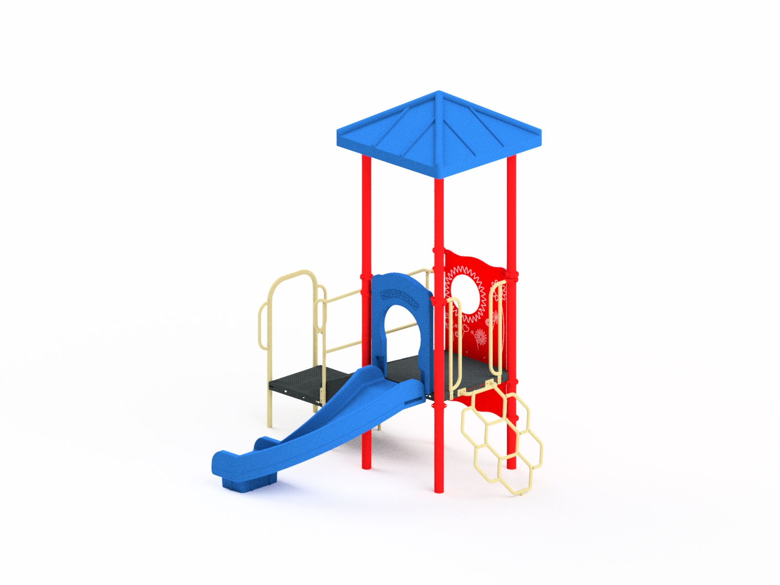 Quick Ship Playground Equipment Structure 1