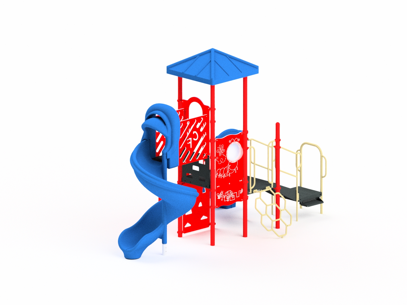 Quick Ship Playground Equipment Structure 3