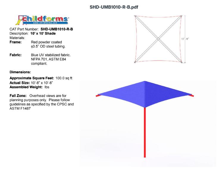 Quick Ship Playground Equipment Structure 1 Shade